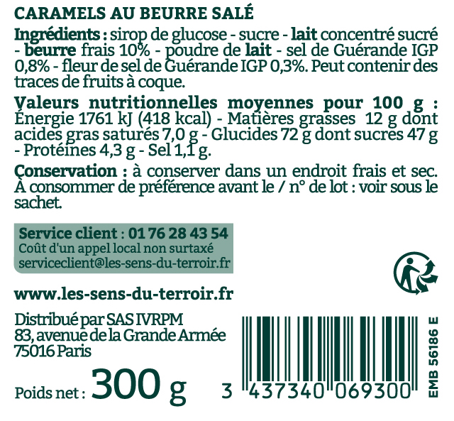 Caramels descriptif - Maison Armorine
