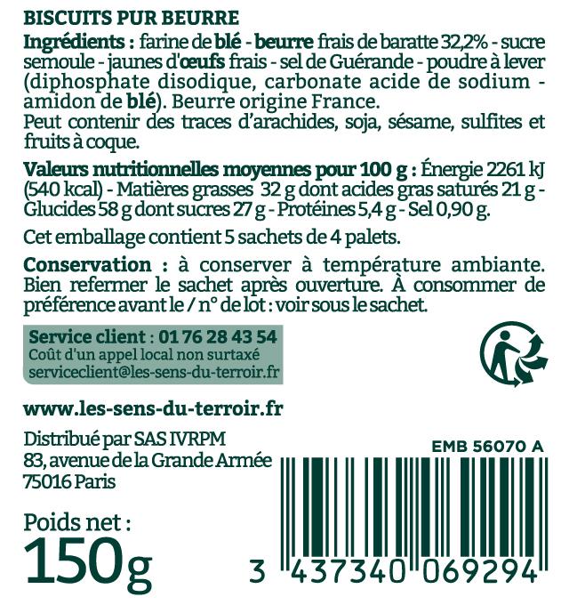 Etiquette Palets de Bretagne
