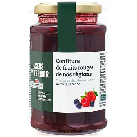 Confiture de fruits rouges de nos régions