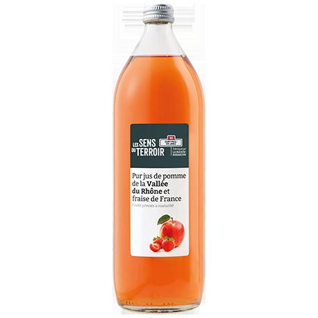 Pur jus de pomme de la Vallée du Rhône et fraise