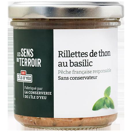 Rillettes de thon au basilic
