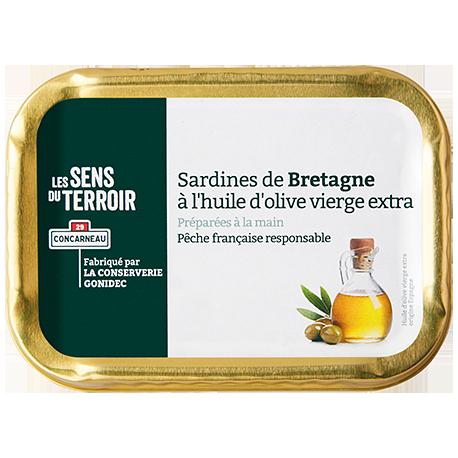 Sardines de Bretagne à l'huile d'olive vierge extra