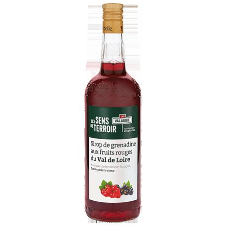Sirop de grenadine aux fruits rouges du Val de Loire